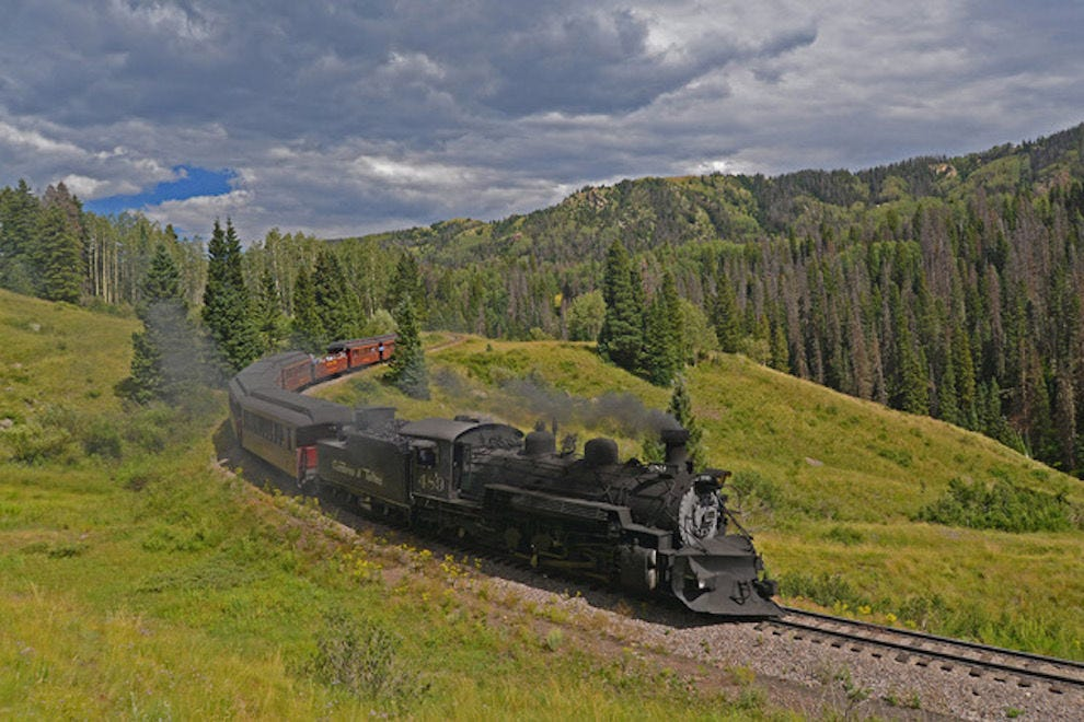 Winning train passes through New Mexico and Colorado