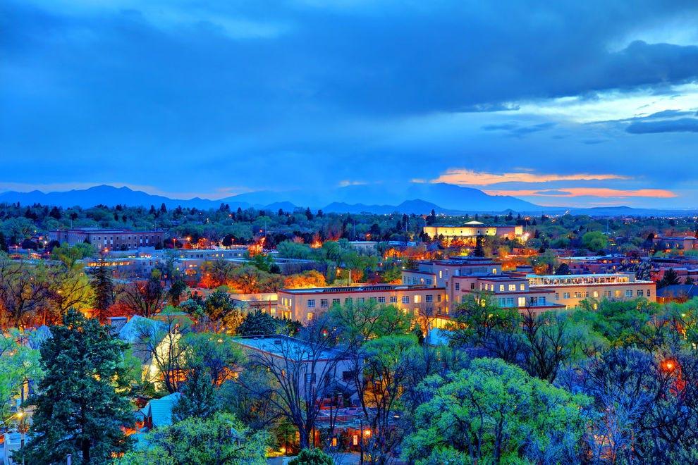 Santa Fe is just as beautiful at night