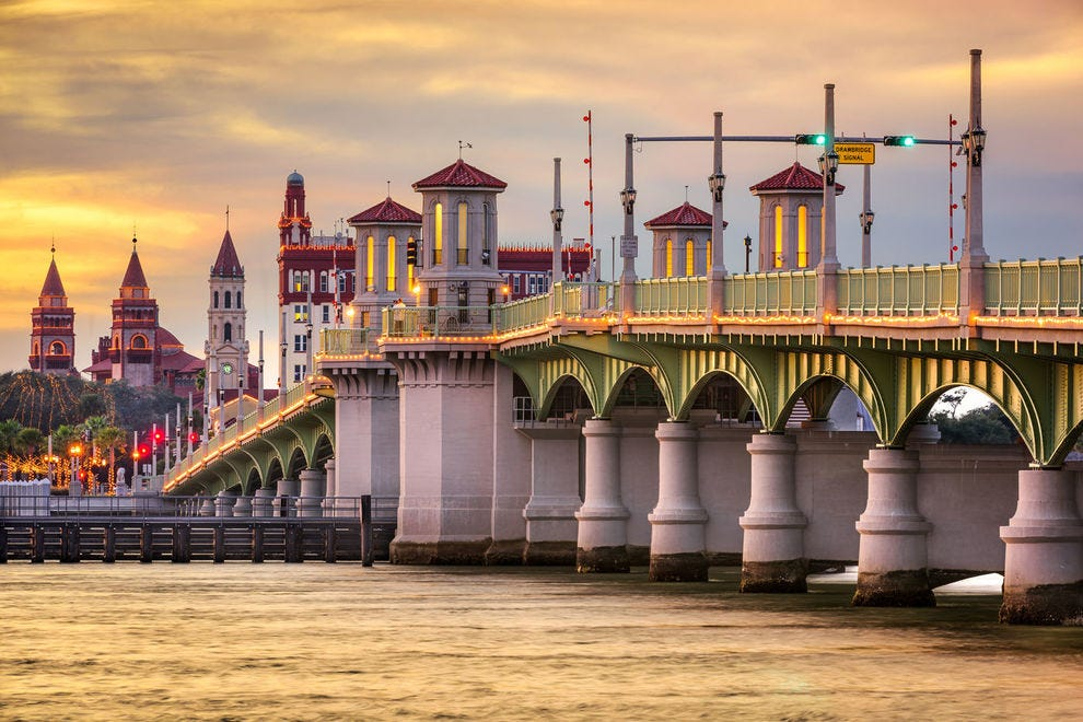 St. Augustine's city skyline and Bridge of Lions