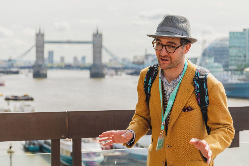 Taking a curated tour around London