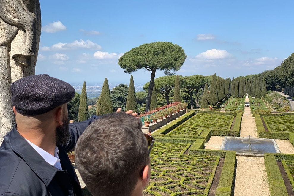 Taking walks around Castel Gandolfo, outside of Rome