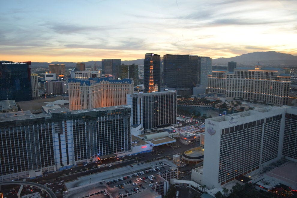View of the Las Vegas Strip from the High Roller