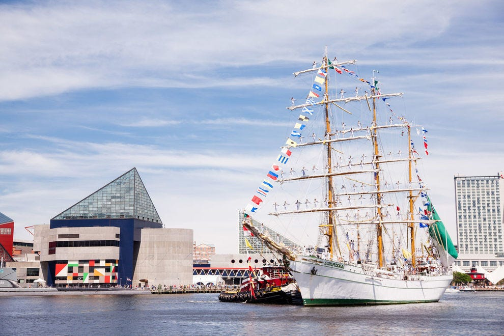 Located within easy walking distance of one another, historic vessels show off Baltimore's rich maritime history
