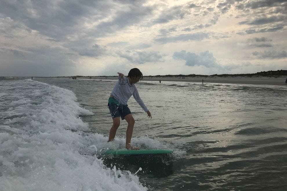 Topsail Island surfing