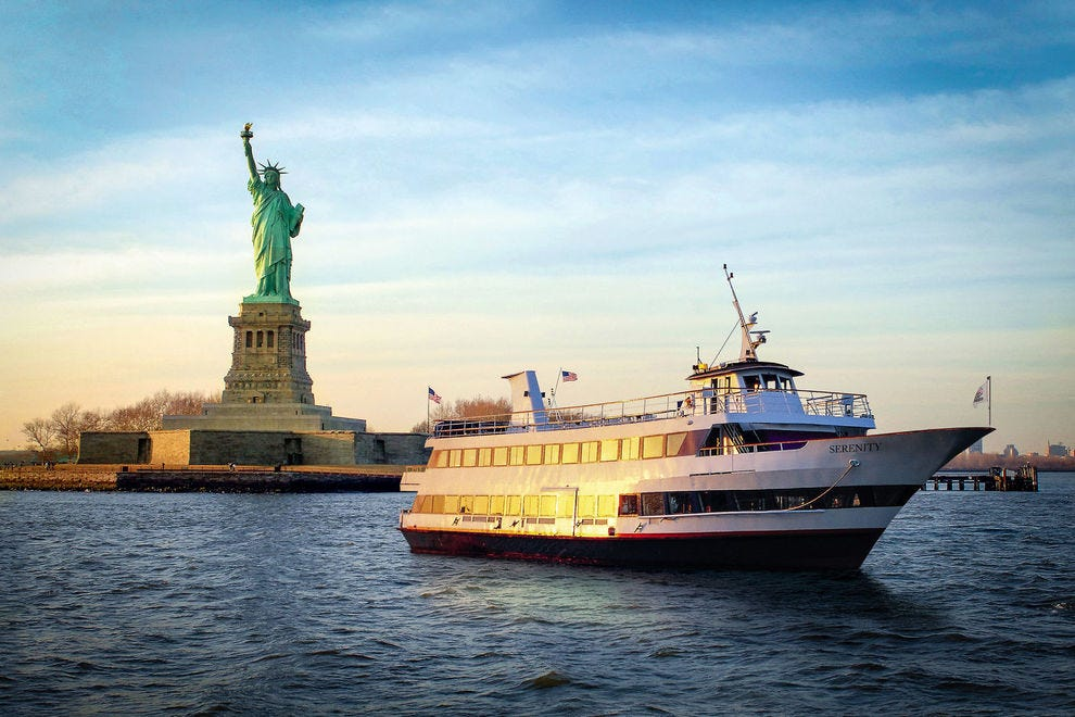 Hornblower Sightseeing Cruises take guests by can't-miss sites like the Statue of Liberty