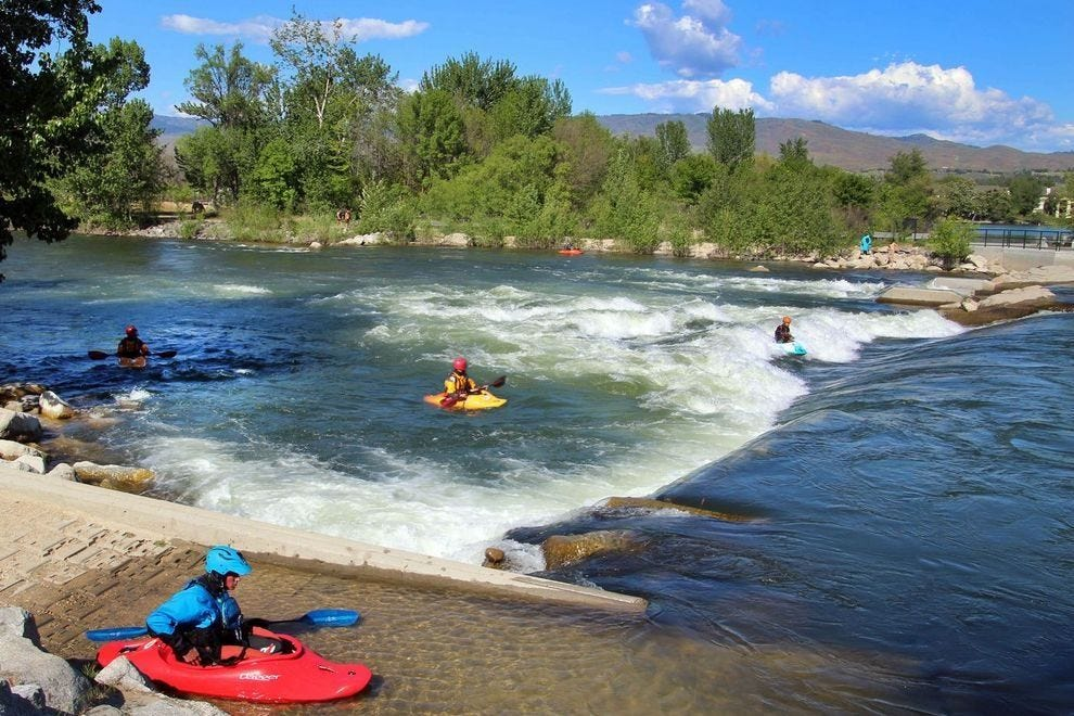 Most travelers don't know you can kayak on the Boise River