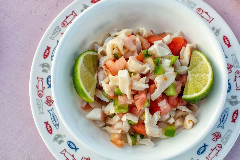 Conch salad from Da Conch Shack in Providenciales