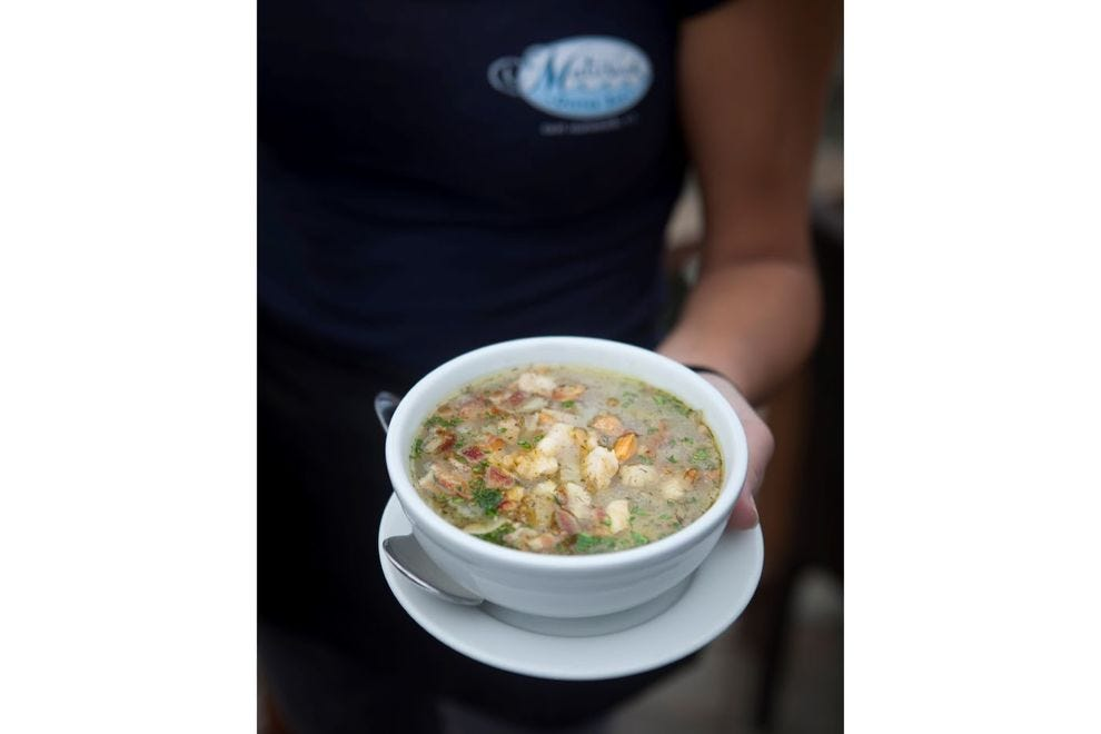 Rhode Island clam chowder from Matunuck Oyster Bar
