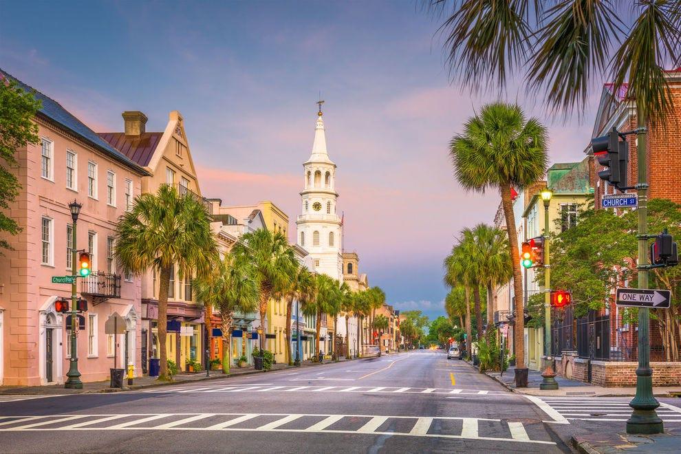 The historic French Quarter of Charleston, South Carolina