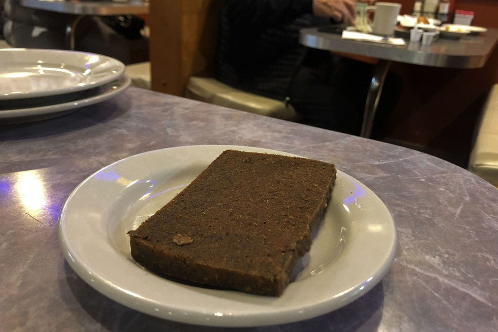 Scrapple is a diner classic in Pennsylvania.