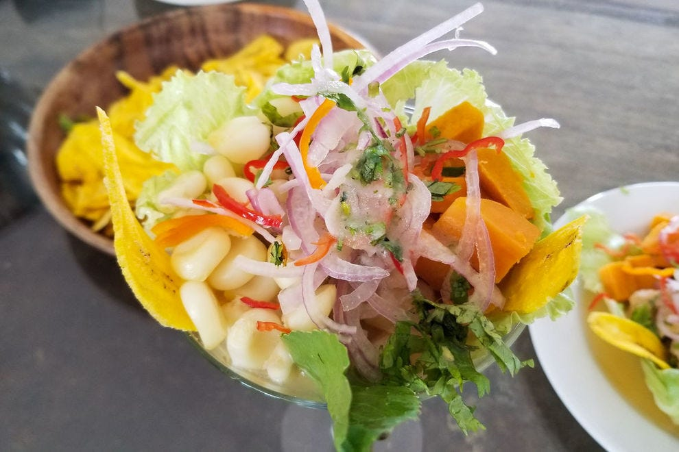 Traditional Peruvian ceviche, made from Amazon River fish