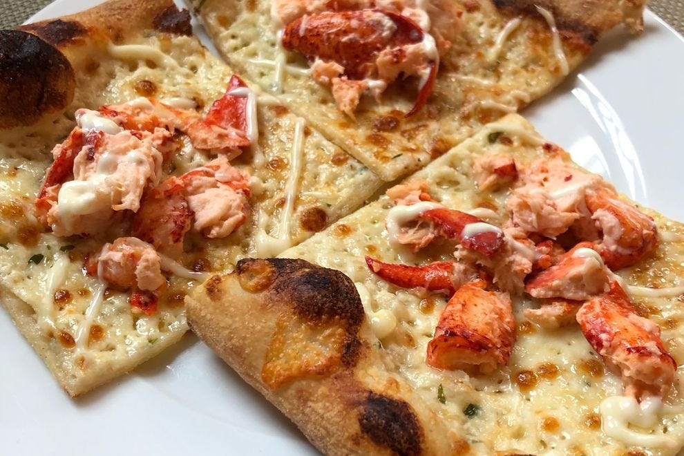 Lobster pizza at Cornerstone Artisanal Pizza & Craft Beer