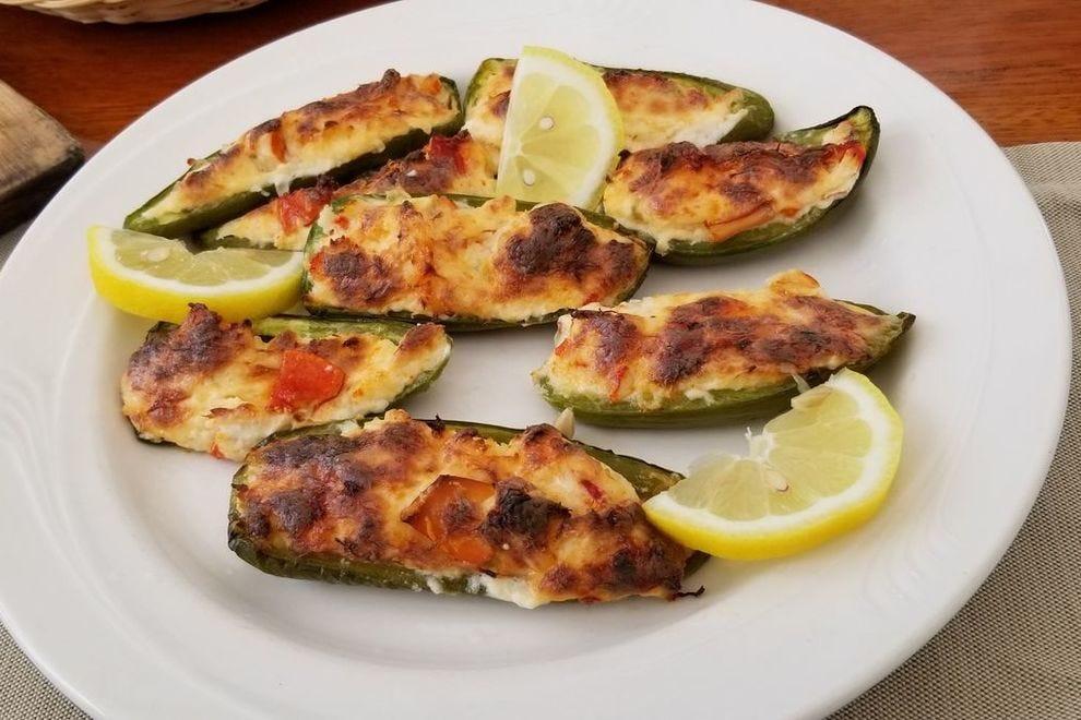 Lobster stuffed jalapeño poppers on the <em>Schooner Ladona</em>