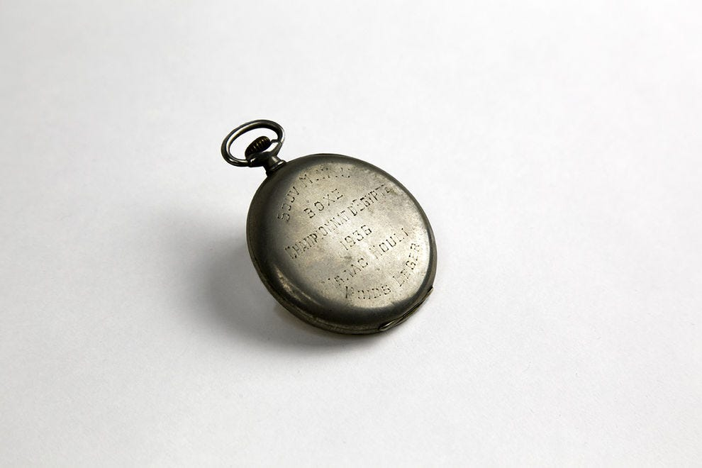 Pocket watch from Egypt, courtesy of Atiya Houli, in memory of Isaac and Victorine Houli