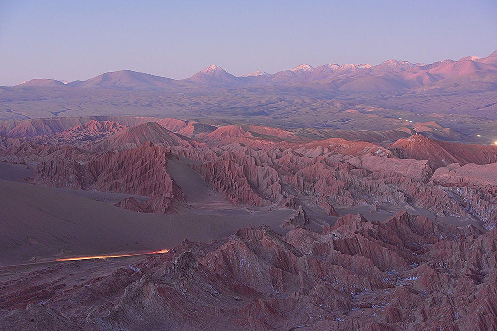 Last light in the Atacama