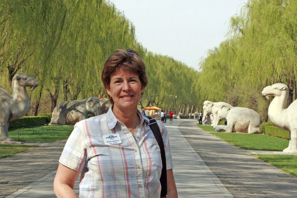 Debra Asberry, founder of Women Traveling Together, in China