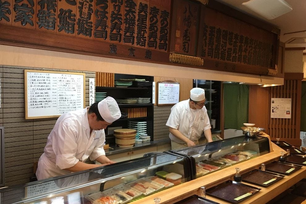 Tokyo is full of tiny sushi restaurants with only counter seating and lots of personal attention from the chef, but they can be hard to find and staff often do not speak English