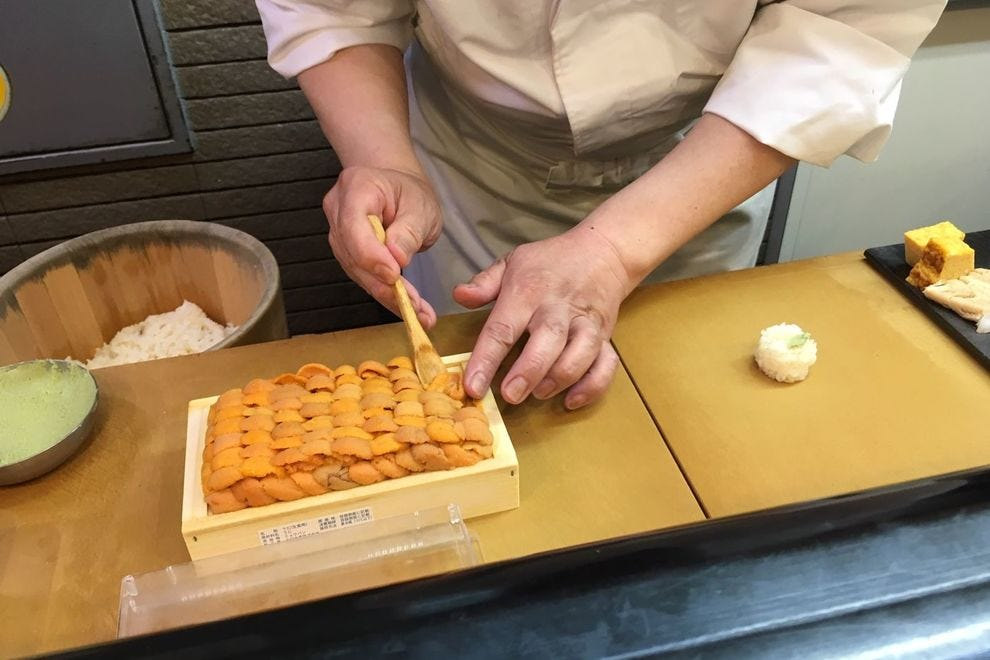 Forget California or Philadelphia rolls – in Japan sushi means treasured ingredients like sea urchin