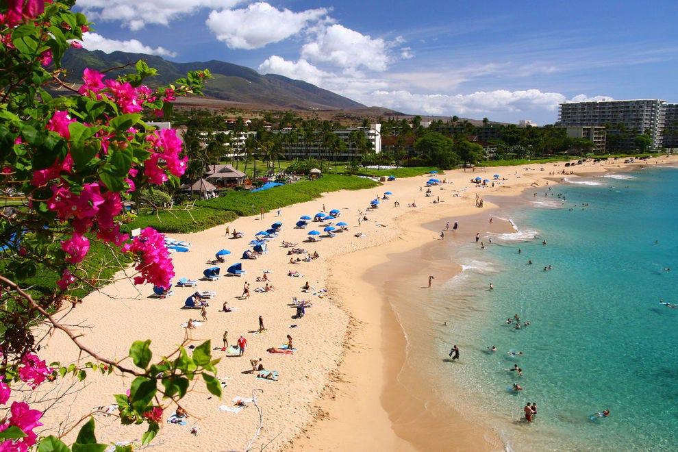 Winning beach offers three miles of white sand