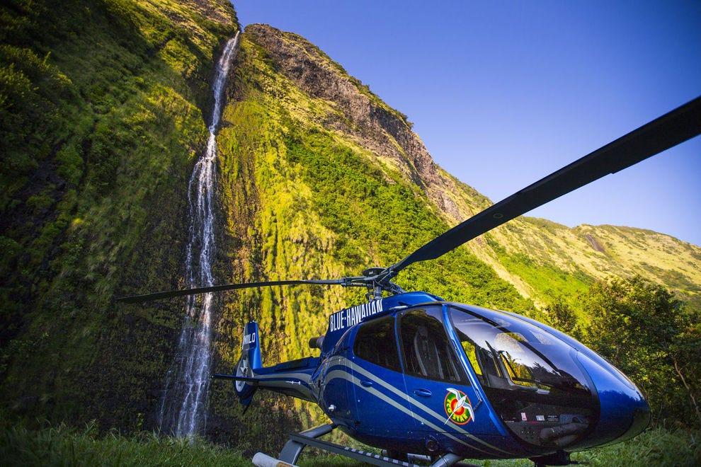 Blue Hawaiian offers helicopter tours of Oahu, Maui, Kauai or the Big Island