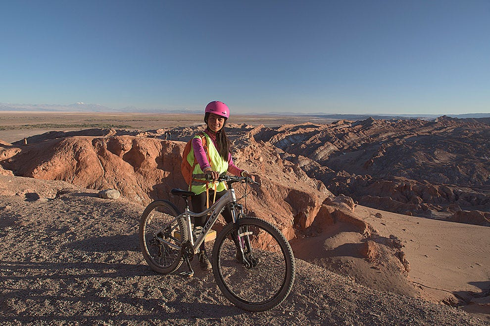 Bicycling above the Moon Valley