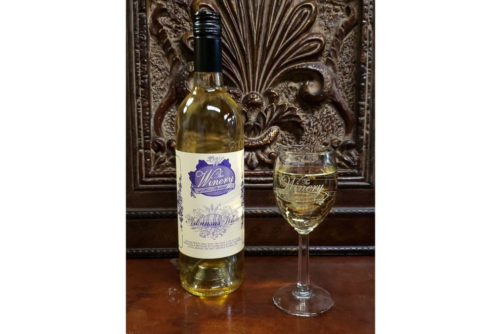 This Arkansas White is made from muscadines, as are many Southern wines