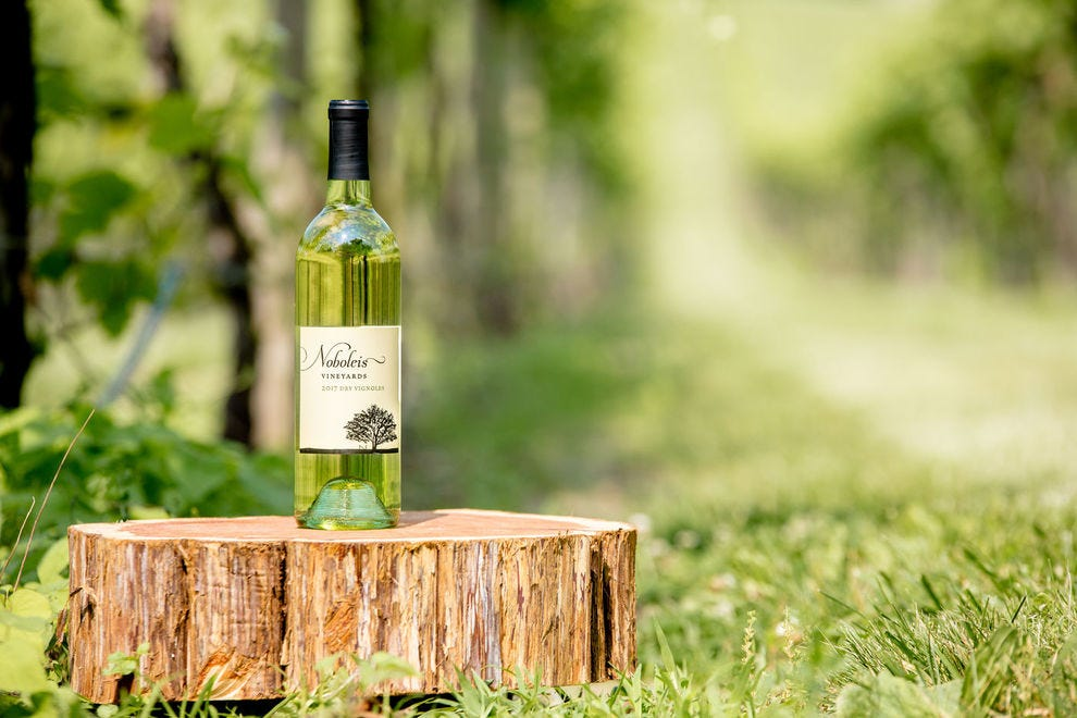 This dry vignoles is described as fruity and satisfying