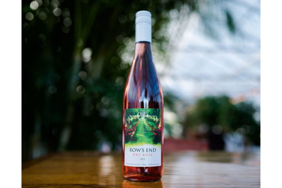 This wine is named after the roses that anchor the ends of the vineyard rows