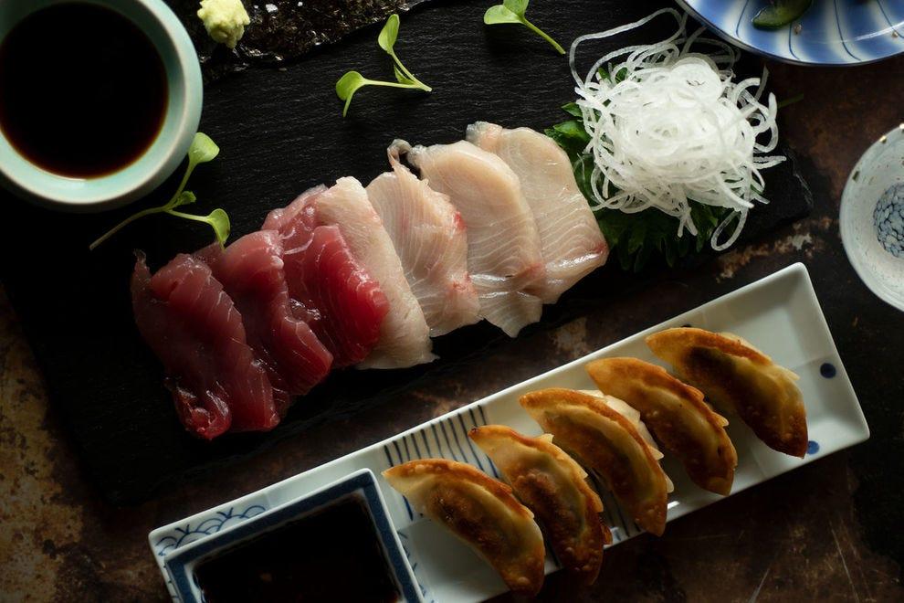Izakaya dining involves multiple small plates enjoyed over sake