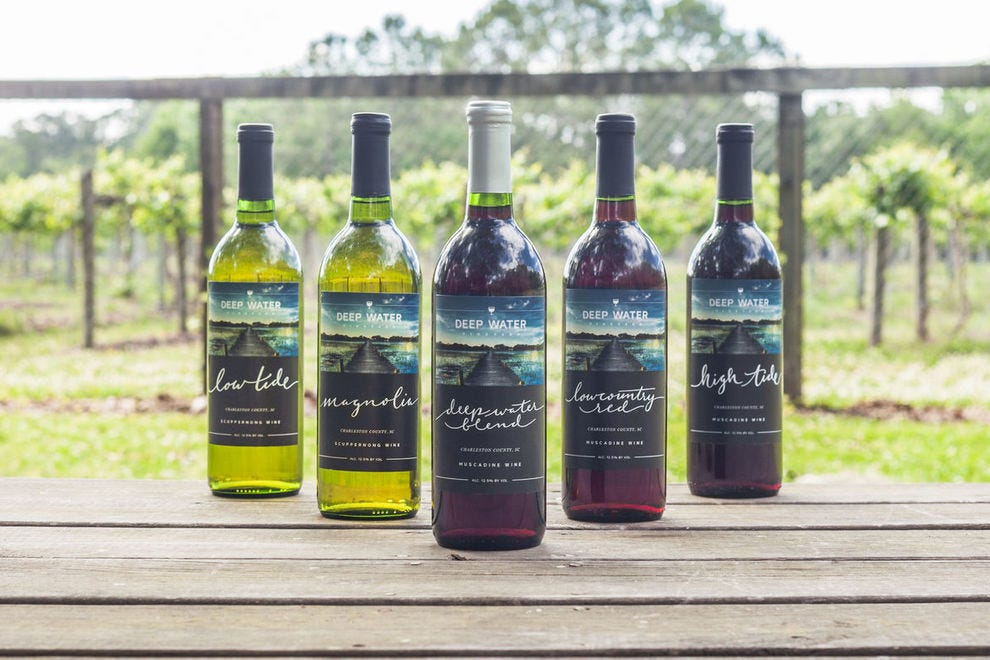 Muscadine wine is popular in the South