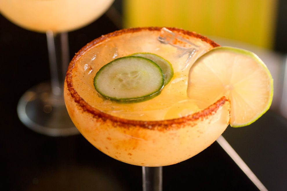 At Plaza Cafe Southside, even the margaritas have a touch of chile