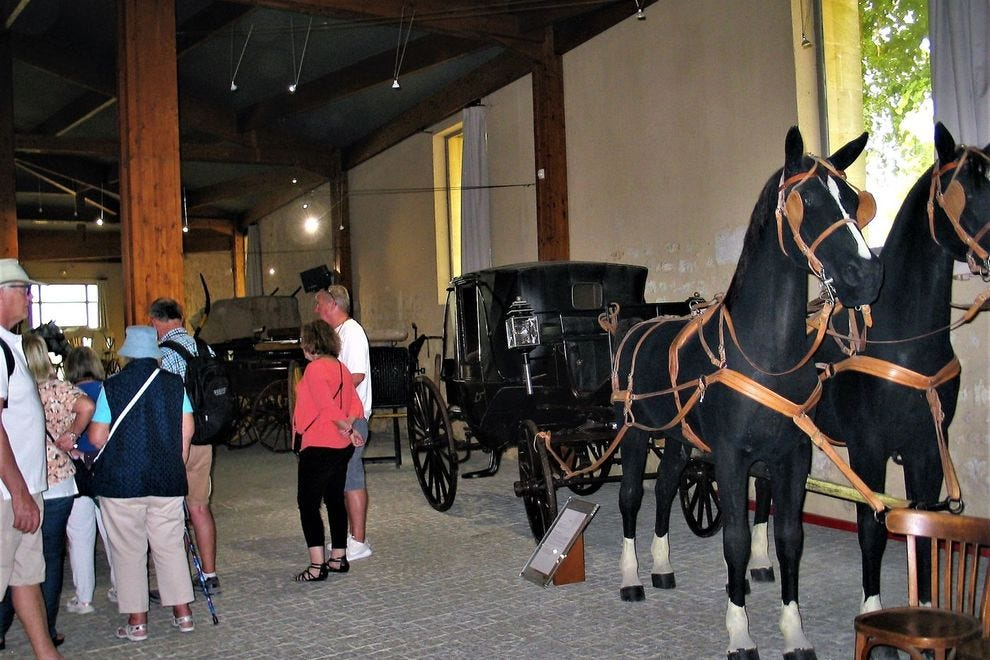 The 18th- and 19th-century Carriage Museum in Bourg