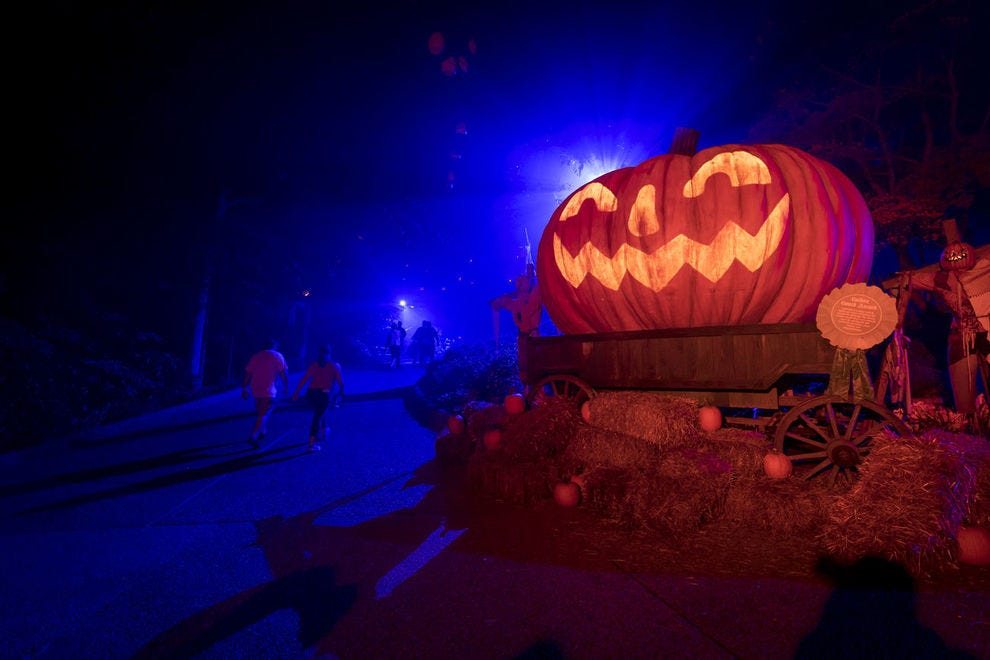 Which theme park throws the best Halloween bash?