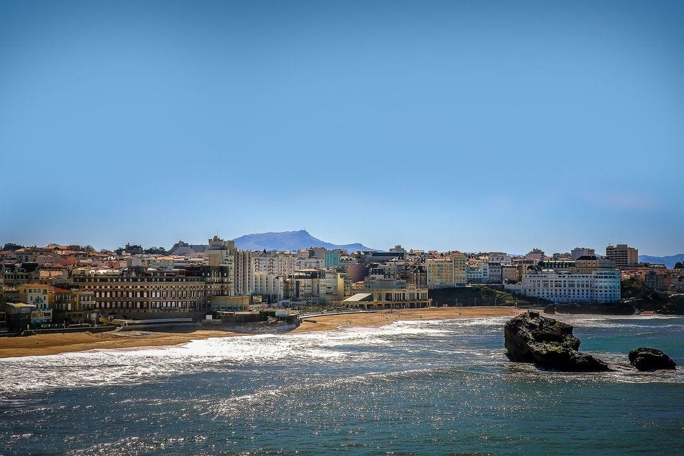 The Bay of Biarritz, France