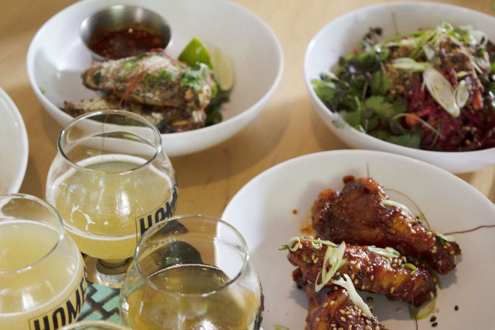 At HOMES Brewery, the food rivals the beer