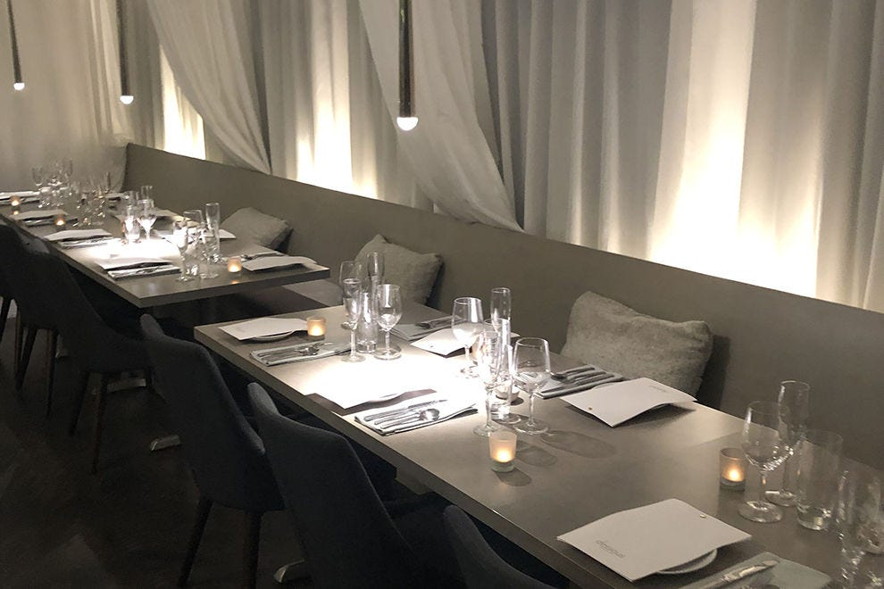 Dessous offers the white tablecloth treatment