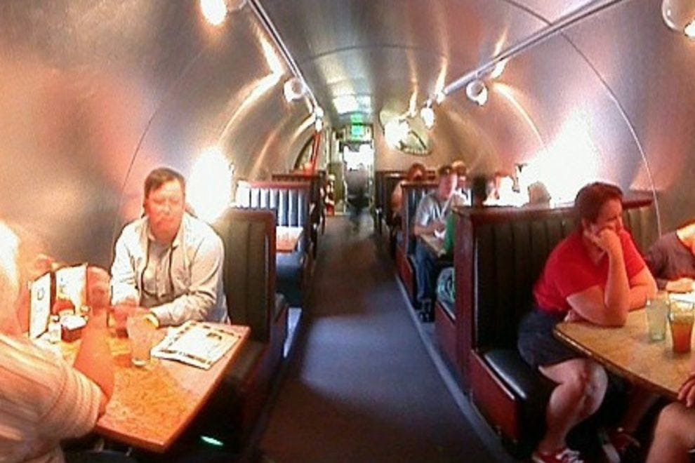 Housed in a Boeing KC-97 tanker, The Airplane Restaurant serves more than peanuts and pretzels