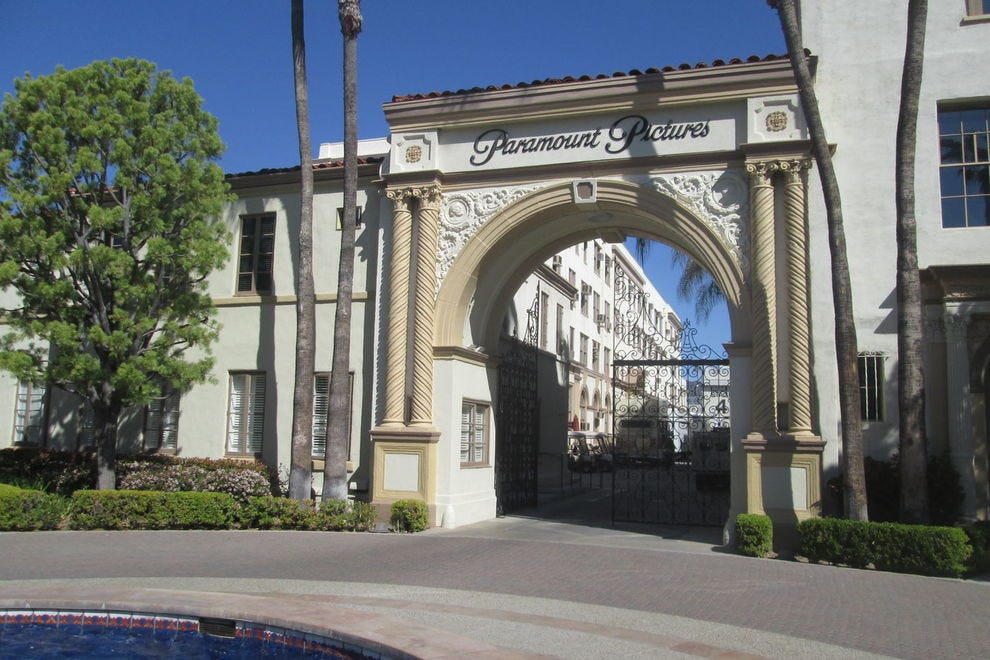 The gate at Paramount that was the setting for different Brady scenes