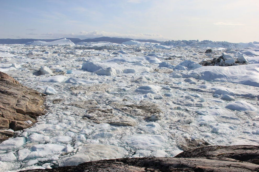 Jakobshavn Glacier has recently undergone slight growth, but its future remains uncertain