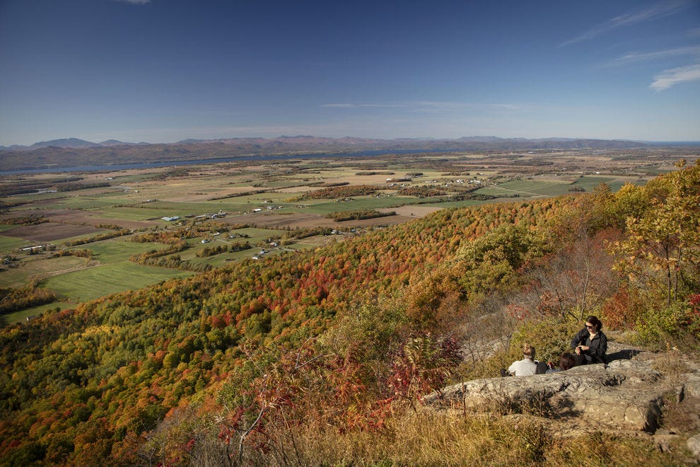 Snake Mountain offers stunning views of autumn foliage