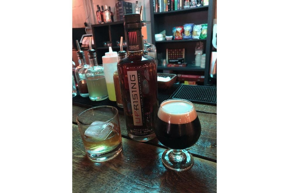 Battle Cry beer and whiskey at Sons of Liberty