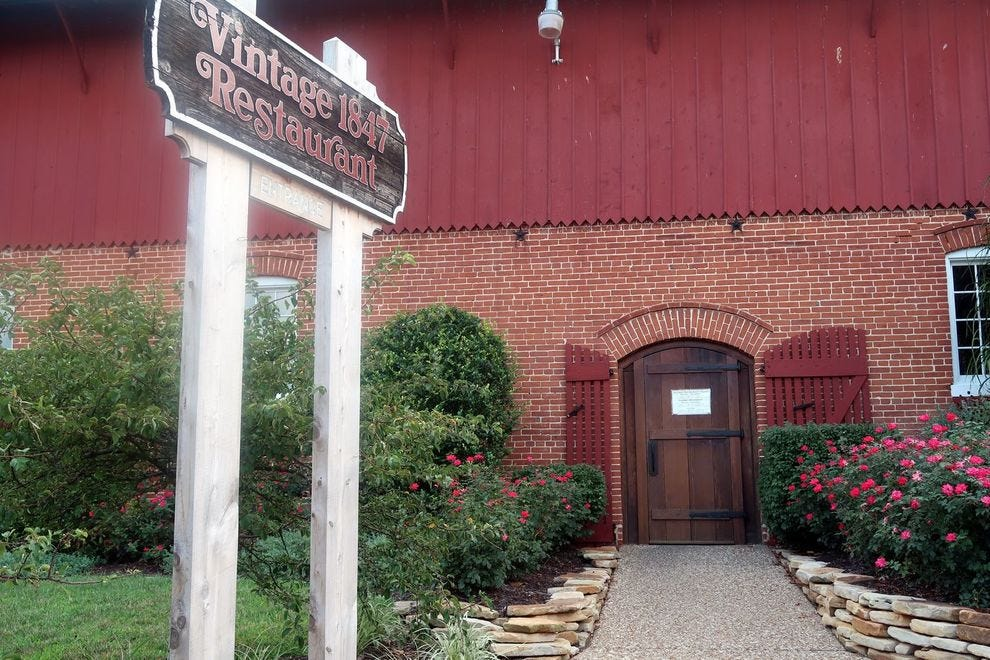 Stone Hill's Vintage Restaurant, housed in the winery's former carriage house and horse barn, serves German and American fare paired with Stone Hill's wines
