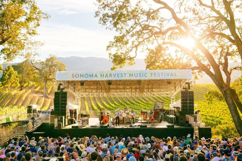 B.R. Cohn Winery is the site of the Sonoma Harvest Music Festival by BottleRock Presents.