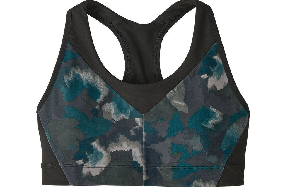 Active women hike and backpack in complete ease when wearing Patagonia's quick-dry sports bras