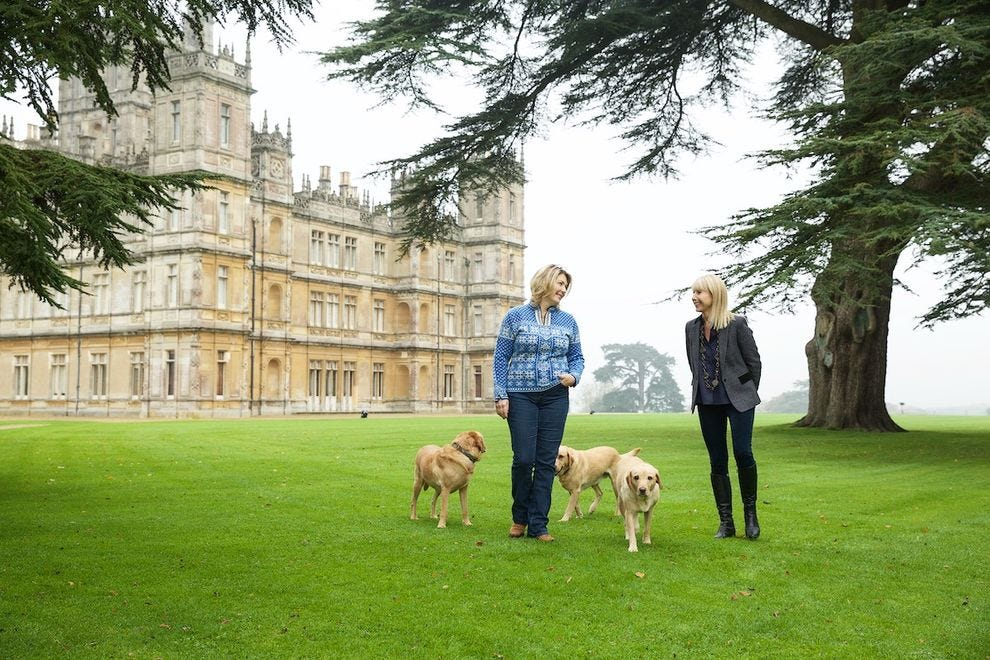 Lady Carnarvon and Karine Hagen at Highclere Castle