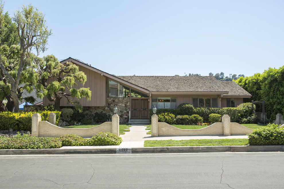 The Brady Bunch house just before the recent renovation
