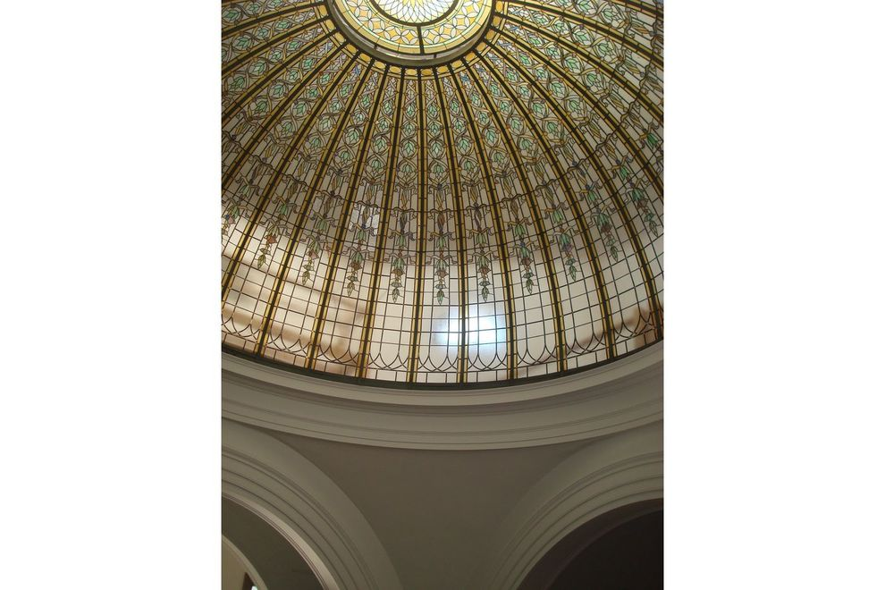 The Bixby's historic stained-glass dome is even prettier in person