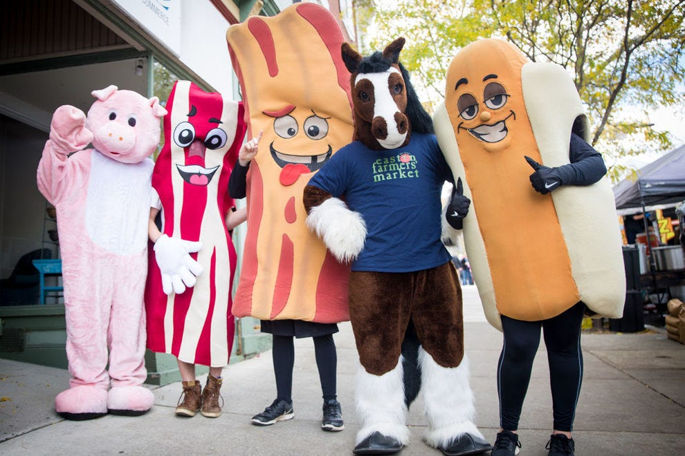 The Greater Easton Development Partnership runs the Easton Farmers' Market and organizes the bacon festival