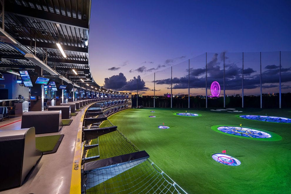 Enjoy an afternoon or late evening game at Topgolf
