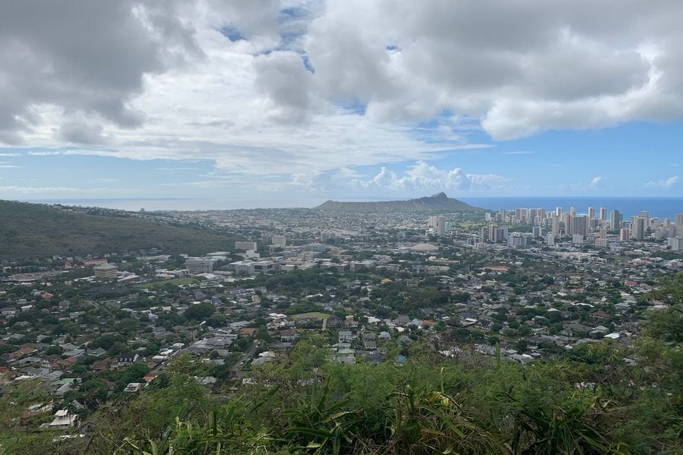 Overlook over Southern Oahu